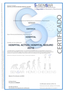 Hospital Activo SENSAR 2016