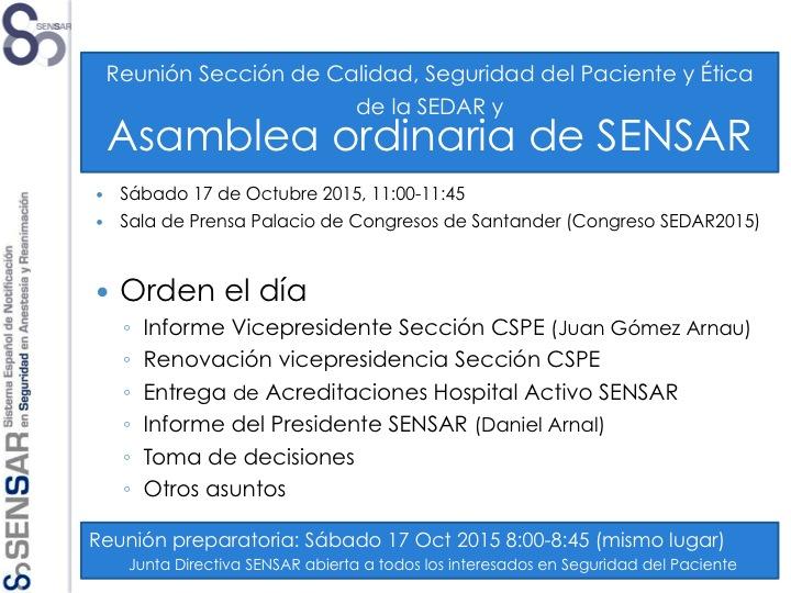 Convocatoria Asamblea SENSAR